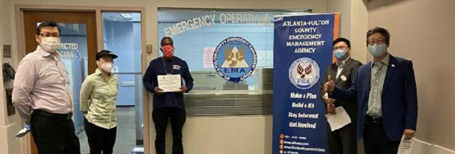 為冠狀病毒防疫努力,贈送防護物品給亞特蘭大富頓郡緊急管理處<NOCONTENT>